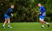 19 October 2020; Tommy O'Brien, right, and Rhys Ruddock during Leinster Rugby squad training at UCD in Dublin. Photo by Ramsey Cardy/Sportsfile