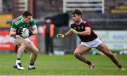 18 October 2020; Patrick Durcan of Mayo and Cillian McDaid of Galway during the Allianz Football League Division 1 Round 6 match between Galway and Mayo at Tuam Stadium in Tuam, Galway. Photo by Ramsey Cardy/Sportsfile