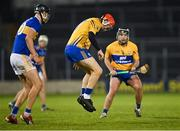 19 October 2020; Darragh Lohan of Clare gathers the ball with his feet after losing his hurl during the Bord Gáis Energy Munster Hurling Under 20 Championship Quarter-Final match between Tipperary and Clare at Semple Stadium in Thurles, Tipperary. Photo by Piaras Ó Mídheach/Sportsfile