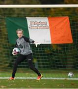 21 October 2020; Goalkeeper Grace Moloney during a Republic of Ireland Women training session at Sportschule Wedau in Duisburg, Germany. Photo by Stephen McCarthy/Sportsfile