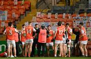 17 October 2020; Armagh players at half-time during the Allianz Football League Division 2 Round 6 match between Armagh and Roscommon at the Athletic Grounds in Armagh. Photo by Piaras Ó Mídheach/Sportsfile