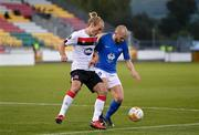 22 October 2020; Eirik Hestad of Molde FK in action against Greg Sloggett of Dundalk during the UEFA Europa League Group B match between Dundalk and Molde FK at Tallaght Stadium in Dublin. Photo by Seb Daly/Sportsfile