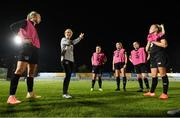 22 October 2020; Head coach Vera Pauw speaks to players during a Republic of Ireland Women training session at Obolon Arena in Kiev, Ukraine. Photo by Stephen McCarthy/Sportsfile