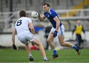 18 October 2020; Gearóid McKiernan of Cavan in action against Kevin Feely of Kildare during the Allianz Football League Division 2 Round 6 match between Kildare and Cavan at St Conleth's Park in Newbridge, Kildare. Photo by Piaras Ó Mídheach/Sportsfile