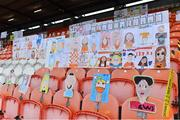 17 October 2020; Self portraits from over 3,000 primary school children across Armagh in the stands before the Allianz Football League Division 2 Round 6 match between Armagh and Roscommon at the Athletic Grounds in Armagh. Photo by Piaras Ó Mídheach/Sportsfile