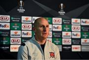 22 October 2020; Dundalk goalkeeper Gary Rogers during a post-match press conference following the UEFA Europa League Group B match between Dundalk and Molde FK at Tallaght Stadium in Dublin. Photo by Ben McShane/Sportsfile