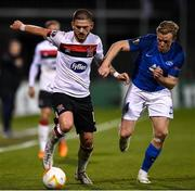22 October 2020; Sean Murray of Dundalk and Erling Knudtzon of Molde FK during the UEFA Europa League Group B match between Dundalk and Molde FK at Tallaght Stadium in Dublin. Photo by Ben McShane/Sportsfile