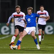 22 October 2020; John Mountney of Dundalk and Erling Knudtzon of Molde FK during the UEFA Europa League Group B match between Dundalk and Molde FK at Tallaght Stadium in Dublin. Photo by Ben McShane/Sportsfile