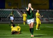 23 October 2020; Ruesha Littlejohn of Republic of Ireland reacts following the UEFA Women's EURO 2022 Qualifier match between Ukraine and Republic of Ireland at the Obolon Arena in Kyiv, Ukraine. Photo by Stephen McCarthy/Sportsfile