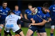 23 October 2020; Dan Sheehan of Leinster is tackled by Jamie Elliot of Zebre during the Guinness PRO14 match between Leinster and Zebre at the RDS Arena in Dublin. Photo by Brendan Moran/Sportsfile