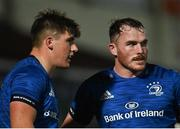 23 October 2020; Dan Sheehan, left, and Peter Dooley of Leinster during the Guinness PRO14 match between Leinster and Zebre at the RDS Arena in Dublin. Photo by Ramsey Cardy/Sportsfile