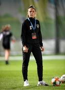 23 October 2020; Republic of Ireland masseur Hannah Tobin Jones prior to the UEFA Women's EURO 2022 Qualifier match between Ukraine and Republic of Ireland at the Obolon Arena in Kyiv, Ukraine. Photo by Stephen McCarthy/Sportsfile