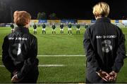 23 October 2020; Republic of Ireland assistant coach Eileen Gleeson, left, and head coach Vera Pauw, right, prior to the UEFA Women's EURO 2022 Qualifier match between Ukraine and Republic of Ireland at the Obolon Arena in Kyiv, Ukraine. Photo by Stephen McCarthy/Sportsfile