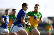 24 October 2020; Sean O'Shea of Kerry in action against Eamonn Doherty of Donegal during the Allianz Football League Division 1 Round 7 match between Kerry and Donegal at Austin Stack Park in Tralee, Kerry. Photo by Matt Browne/Sportsfile