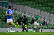 24 October 2020; Conor Murray of Ireland leaves the pitch after receiving a yellow card from referee Matthew Carley during the Guinness Six Nations Rugby Championship match between Ireland and Italy at the Aviva Stadium in Dublin. Photo by Brendan Moran/Sportsfile