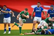 24 October 2020; Garry Ringrose of Ireland playing at scrum-half during the Guinness Six Nations Rugby Championship match between Ireland and Italy at the Aviva Stadium in Dublin. Photo by Ramsey Cardy/Sportsfile