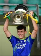 24 October 2020; Kerry captain David Clifford lifts the cup after the Allianz Football League Division 1 Round 7 match between Kerry and Donegal at Austin Stack Park in Tralee, Kerry. Photo by Matt Browne/Sportsfile