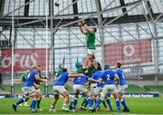 24 October 2020; CJ Stander of Ireland wins possession in the lineout during the Guinness Six Nations Rugby Championship match between Ireland and Italy at the Aviva Stadium in Dublin. Photo by Seb Daly/Sportsfile