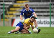24 October 2020; Done Smith of Roscommon in action against Jason McLoughlin of Cavan during the Allianz Football League Division 2 Round 7 match between Cavan and Roscommon at Kingspan Breffni Park in Cavan. Photo by Daire Brennan/Sportsfile
