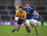 24 October 2020; Ultan Harney of Roscommon in action against Ciarán Brady of Cavan during the Allianz Football League Division 2 Round 7 match between Cavan and Roscommon at Kingspan Breffni Park in Cavan. Photo by Daire Brennan/Sportsfile