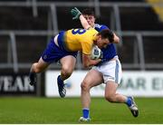 24 October 2020; Hubert Darcy of Roscommon in action against James Smith of Cavan during the Allianz Football League Division 2 Round 7 match between Cavan and Roscommon at Kingspan Breffni Park in Cavan. Photo by Daire Brennan/Sportsfile