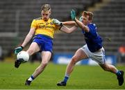 24 October 2020; Henry Walsh of Roscommon in action against Jason McLoughlin of Cavan during the Allianz Football League Division 2 Round 7 match between Cavan and Roscommon at Kingspan Breffni Park in Cavan. Photo by Daire Brennan/Sportsfile