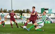 24 October 2020; Gary Shaw of Bray Wanderers is tackled by Shane Doherty of Galway United during the SSE Airtricity League First Division match between Bray Wanderers and Galway United at Carlisle Grounds in Bray, Wicklow. Photo by Eóin Noonan/Sportsfile