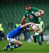 24 October 2020; CJ Stander of Ireland is tackled by Edoardo Padovani of Italy during the Guinness Six Nations Rugby Championship match between Ireland and Italy at the Aviva Stadium in Dublin. Photo by Ramsey Cardy/Sportsfile