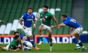 24 October 2020; Hugo Keenan of Ireland is tackled by Edoardo Padovani of Italy during the Guinness Six Nations Rugby Championship match between Ireland and Italy at the Aviva Stadium in Dublin. Photo by Ramsey Cardy/Sportsfile