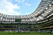24 October 2020; Caelan Doris of Ireland wins possession in the lineout during the Guinness Six Nations Rugby Championship match between Ireland and Italy at the Aviva Stadium in Dublin. Photo by Ramsey Cardy/Sportsfile