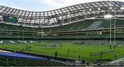24 October 2020; A general view of a lineout during the Guinness Six Nations Rugby Championship match between Ireland and Italy at the Aviva Stadium in Dublin. Due to current restrictions laid down by the Irish government to prevent the spread of coronavirus and to adhere to social distancing regulations, all sports events in Ireland are currently held behind closed doors. Photo by Brendan Moran/Sportsfile