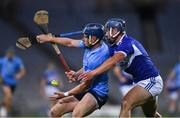 24 October 2020; Davy Keogh of Dublin in action against Lee Cleere of Laois  during the Leinster GAA Hurling Senior Championship Quarter-Final match between Laois and Dublin at Croke Park in Dublin. Photo by Ray McManus/Sportsfile