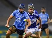 24 October 2020; Eoghan O'Donnell of Dublin in action against Willie Dunphy of Laois during the Leinster GAA Hurling Senior Championship Quarter-Final match between Laois and Dublin at Croke Park in Dublin. Photo by Ray McManus/Sportsfile