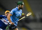 24 October 2020; Chris Crummey of Dublin in action against Mark Kavanagh of Laois during the Leinster GAA Hurling Senior Championship Quarter-Final match between Laois and Dublin at Croke Park in Dublin. Photo by Piaras Ó Mídheach/Sportsfile