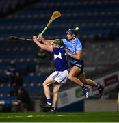 24 October 2020; Willie Dunphy of Laois in action against Eoghan O'Donnell of Dublin during the Leinster GAA Hurling Senior Championship Quarter-Final match between Laois and Dublin at Croke Park in Dublin. Photo by Ray McManus/Sportsfile
