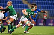 24 October 2020; Ciara Griffin of Ireland makes a break during the Women's Six Nations Rugby Championship match between Ireland and Italy at Energia Park in Dublin. Due to current restrictions laid down by the Irish government to prevent the spread of coronavirus and to adhere to social distancing regulations, all sports events in Ireland are currently held behind closed doors. Photo by Brendan Moran/Sportsfile