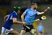 24 October 2020; Danny Sutcliffe of Dublin in action against Patrick Purcell of Laois during the Leinster GAA Hurling Senior Championship Quarter-Final match between Laois and Dublin at Croke Park in Dublin. Photo by Piaras Ó Mídheach/Sportsfile