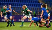24 October 2020; Claire Molloy of Ireland makes a break during the Women's Six Nations Rugby Championship match between Ireland and Italy at Energia Park in Dublin. Due to current restrictions laid down by the Irish government to prevent the spread of coronavirus and to adhere to social distancing regulations, all sports events in Ireland are currently held behind closed doors. Photo by Brendan Moran/Sportsfile