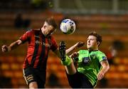 24 October 2020; Tony McNamee of Finn Harps in action against Keith Ward of Bohemians during the SSE Airtricity League Premier Division match between Bohemians and Finn Harps at Dalymount Park in Dublin. Photo by Eóin Noonan/Sportsfile