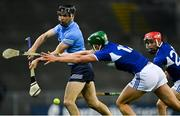 24 October 2020; Danny Sutcliffe of Dublin in action against James Ryan, left, and Jack Kelly of Laois during the Leinster GAA Hurling Senior Championship Quarter-Final match between Laois and Dublin at Croke Park in Dublin. Photo by Piaras Ó Mídheach/Sportsfile