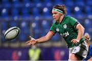 24 October 2020; Ciara Griffin of Ireland during the Women's Six Nations Rugby Championship match between Ireland and Italy at Energia Park in Dublin. Due to current restrictions laid down by the Irish government to prevent the spread of coronavirus and to adhere to social distancing regulations, all sports events in Ireland are currently held behind closed doors. Photo by Ramsey Cardy/Sportsfile