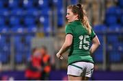 24 October 2020; Lauren Delany of Ireland during the Women's Six Nations Rugby Championship match between Ireland and Italy at Energia Park in Dublin. Due to current restrictions laid down by the Irish government to prevent the spread of coronavirus and to adhere to social distancing regulations, all sports events in Ireland are currently held behind closed doors. Photo by Ramsey Cardy/Sportsfile