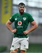 24 October 2020; Caelan Doris of Ireland during the Guinness Six Nations Rugby Championship match between Ireland and Italy at the Aviva Stadium in Dublin. Due to current restrictions laid down by the Irish government to prevent the spread of coronavirus and to adhere to social distancing regulations, all sports events in Ireland are currently held behind closed doors. Photo by Brendan Moran/Sportsfile