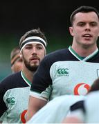 24 October 2020; Caelan Doris of Ireland prior to the Guinness Six Nations Rugby Championship match between Ireland and Italy at the Aviva Stadium in Dublin. Due to current restrictions laid down by the Irish government to prevent the spread of coronavirus and to adhere to social distancing regulations, all sports events in Ireland are currently held behind closed doors. Photo by Brendan Moran/Sportsfile