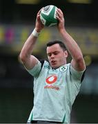 24 October 2020; James Ryan of Ireland prior to the Guinness Six Nations Rugby Championship match between Ireland and Italy at the Aviva Stadium in Dublin. Due to current restrictions laid down by the Irish government to prevent the spread of coronavirus and to adhere to social distancing regulations, all sports events in Ireland are currently held behind closed doors. Photo by Brendan Moran/Sportsfile