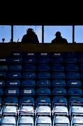 25 October 2020; Commentators take their positions ahead of the SSE Airtricity League Premier Division match between Waterford and Dundalk at RSC in Waterford. Photo by Sam Barnes/Sportsfile