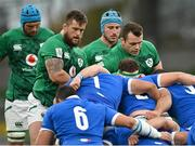 24 October 2020; Andrew Porter, left, and Cian Healy of Ireland during the Guinness Six Nations Rugby Championship match between Ireland and Italy at the Aviva Stadium in Dublin. Due to current restrictions laid down by the Irish government to prevent the spread of coronavirus and to adhere to social distancing regulations, all sports events in Ireland are currently held behind closed doors. Photo by Seb Daly/Sportsfile