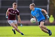 25 October 2020; Cian Murphy of Dublin and Jason Leonard of Galway during the Allianz Football League Division 1 Round 7 match between Galway and Dublin at Pearse Stadium in Galway. Photo by Ramsey Cardy/Sportsfile