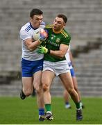 25 October 2020; Killian Lavelle of Monaghan in action against David Toner of Meath during the Allianz Football League Division 1 Round 7 match between Monaghan and Meath at St Tiernach's Park in Clones, Monaghan. Photo by Harry Murphy/Sportsfile