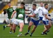 25 October 2020; Jason Scully of Meath in action against Ryan Wylie of Monaghan during the Allianz Football League Division 1 Round 7 match between Monaghan and Meath at St Tiernach's Park in Clones, Monaghan. Photo by Philip Fitzpatrick/Sportsfile